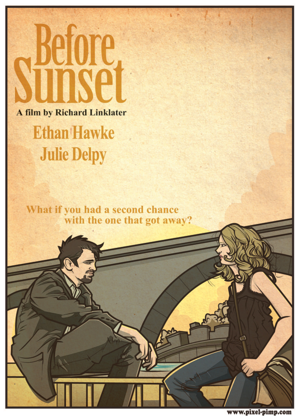 before sunset poster design pixelpimpcom